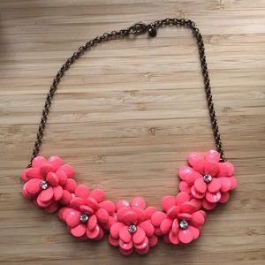 J.CREW Flower Blossom Statement Necklace 🌼🌸